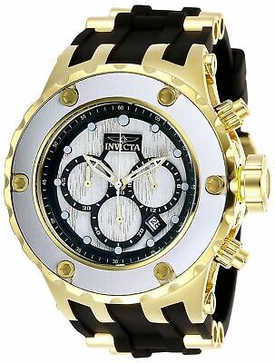 Invicta 27914 Specialty Men's Chronograph 52mm Gold-Tone Steel White Wood Dial