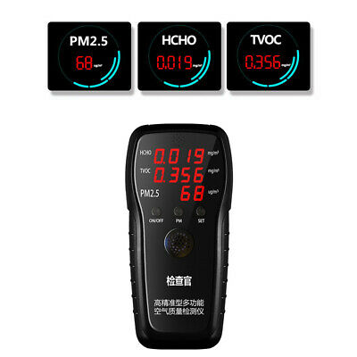 Accurate Multifunctional Air Quality Detector HCHO TVOC PM2.5 Tester with O1Q9