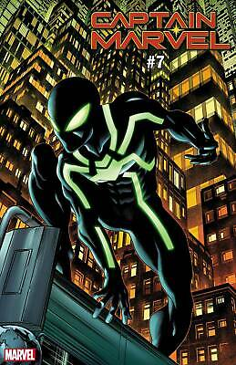 Captain Marvel # 7 Spider-Man Symbiote Suit Variant Cover NM DC Ships June 19th