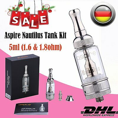Aspire Nautilus Clearomizer Set Glastank 5ml Verdampfer Head BVC 1,6/1,8Ohm DE