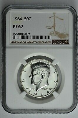 1964 50c Silver Proof Kennedy Half Dollar NGC PF 67