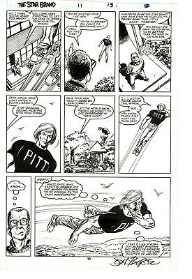 Star Brand 11 page 13 by John Byrne! Marvel New Universe! Signed