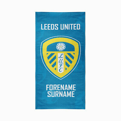 Personalised Leeds United Towel | Microfibre Beach Towel | Licenced Product