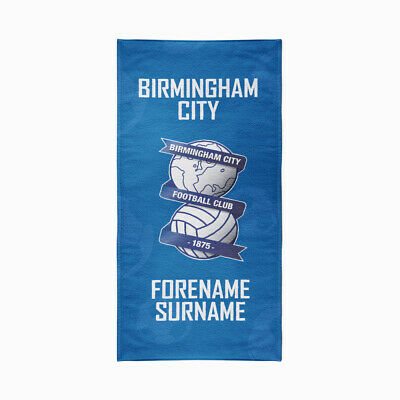 Birmingham City F.C. Beach Towel – Personalise with Any Name
