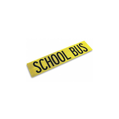3M™ Diamond Grade™ School Bus Sign 983-71 Yellow/Black, 10 in x 44 in