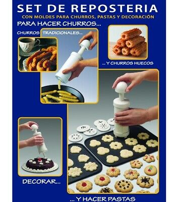 MAQUINA DECORADORA CHURRERA para hacer churros fritos y de Machine Maker churro