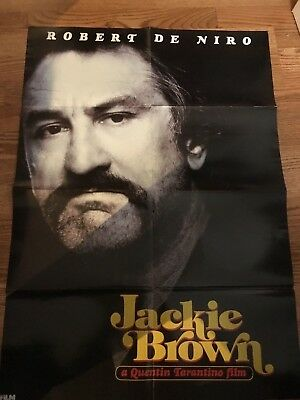 Jackie Brown Robert Deniro & Faceoff Travolta And Cage 2 Sided Poster 33 X 23 In
