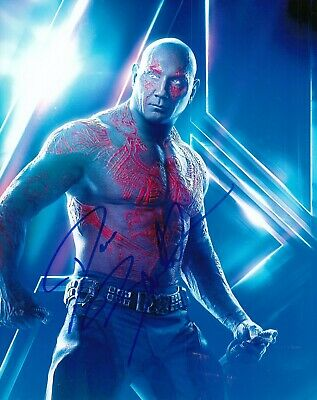 DAVE BAUTISTA signed (GUARDIANS OF THE GALAXY) DRAX 8X10 Avengers photo W/COA #2