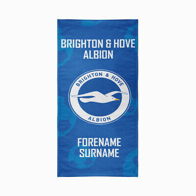 Personalised Brighton and Hove Albion Towel | Microfibre Beach Towel | Licenced