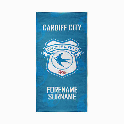 Personalised Cardiff City Towel  | Microfibre Beach Towel | Licenced Product