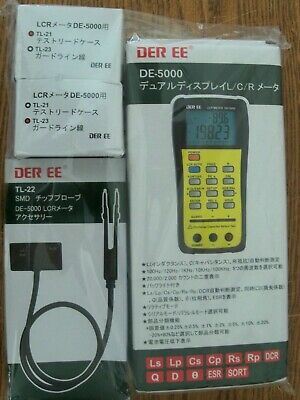 DER EE DE-5000 Handheld LCR Meter w/ TL-21,TL-22,TL-23,English Manual,Battery