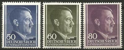 Germany Third Reich General-Government 1943 MNH - Definitives Hitler Mi-110-112