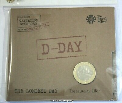 2019 D Day Landings £2 Two Pounds Coin Brilliant Uncirculated Royal Mint Pack