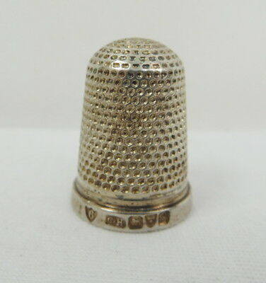 Antique Solid Silver Thimble C.H Charles Horner Chester 1909 Size 6
