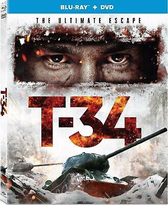 T-34 (2019) [Blu-ray+DVD+Digital] New !! (Free Shipping)