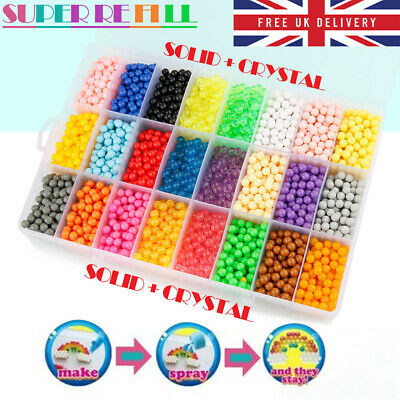 3000-5000 SUPER REFILL Beads Water Fuse Beads 24 SEPARATE Color Packing