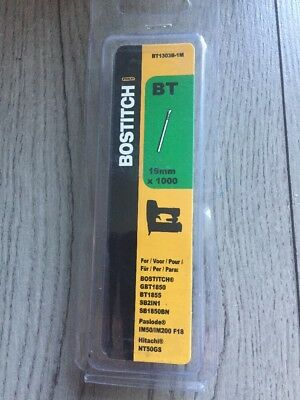 Bostitch BT1303B-1M 19mm 1M Brown Brad Nail 18 G Gauge 2 X Pk1000