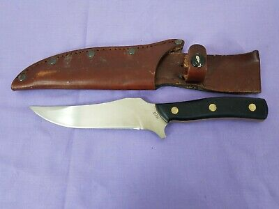 Schrade Old Timer 150T Fixed Blade Knife with Brown Leather Sheath