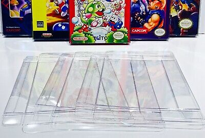 5 Box Protectors for NINTENDO NES Video Game Boxes! Clear Display Cases CIB New
