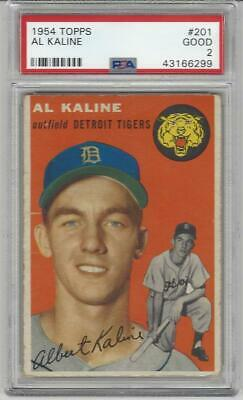 Al Kaline 1954 T Baseball Rookie Card 201 Detroit Tigers