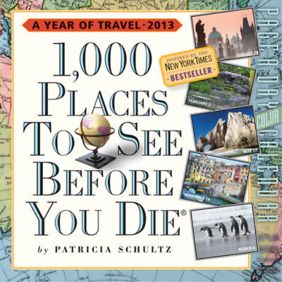 1,000 Places to See Before You Die� Calendar  P.A.D 2013 (Page a Day Calendar),