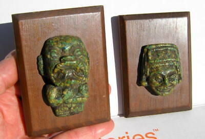 Pair Of Antique Pre Columbian Mayan Wall Plaques