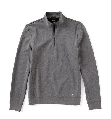 9589c94ee Men's Hugo BOSS Siegal Slim-Fit Doubleface Quarter-Zip Pullover Size L
