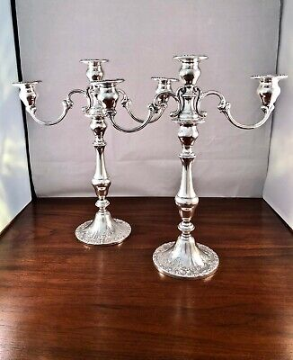 (1) Gorham Co. Sterling Silver Candelabra 3-Light #750: Chantilly (3 Available)