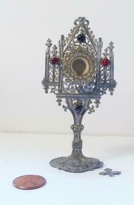 Antique German Dollhouse Religious Monstrance ~ Very Ornate ~ Large Size