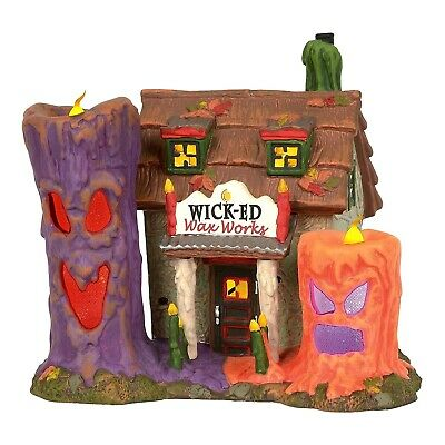 Wicked Wax Works Dept 56 Snow Village Halloween 6003160 haunted scary shop A