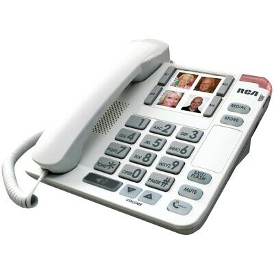 Rca Consumer 1123-1Wtga Amplified Big Button Picture Phone