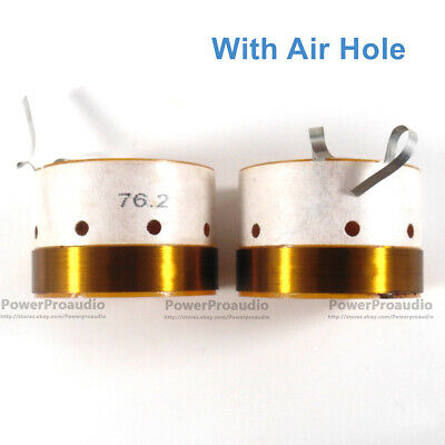 2 x Quality 76.2mm Aluminum wire voice coil for RCF LF15P530 - 8 Loudspeaker