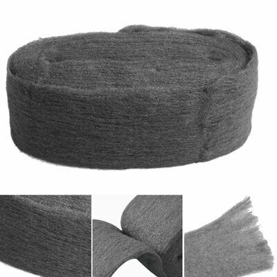 Grade 0000 Steel Wire Wool 330CM Wrap for Polishing Cleaning Remover Non Crumble