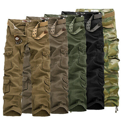 New ARMY CARGO CAMO COMBAT MILITARY MENS TROUSERS CAMOUFLAGE PANTS CASUALS