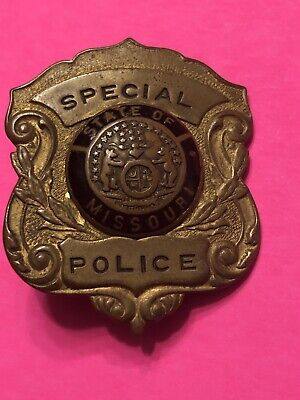 Vintage Antique Obsolete Early 1900s Missouri Special Police Badge State Sheriff