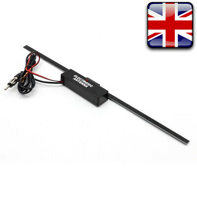 Electronic Amplified Antenna Stereo Radio FM AM Aerial Universal For Car Vehicle