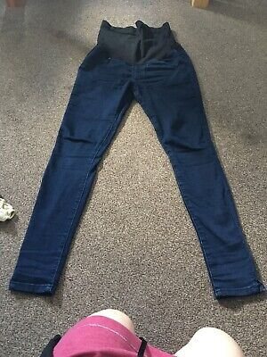 Seraphine Dark Blue Denim Maternity Jeans Size UK 10