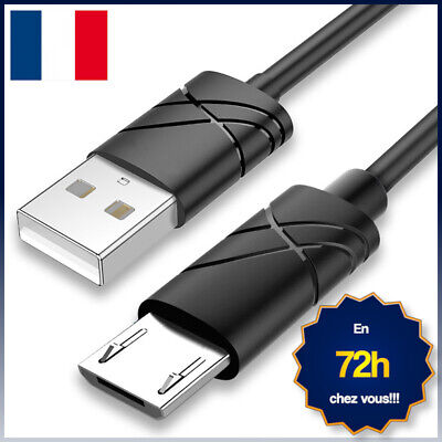 Cable Chargeur Telephone Micro Usb Pour Samsung, Wiko, Lg, Sony, Huawei