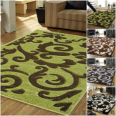 Quality Thick Soft Clearance Sale Small Large Rapello Tuscany Modern Rugs Mats