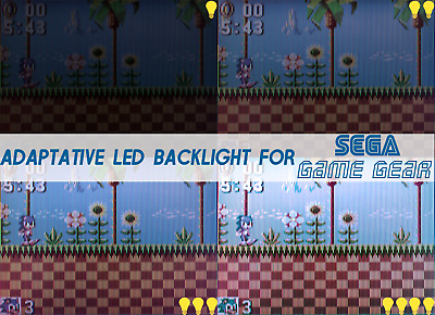 SEGA Game Gear DIY KIT ADAPTATIVE BACKLIGHT BACKLIT Retroéclairage
