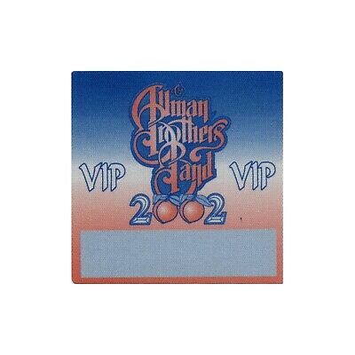 Allman Brothers VIP 2002 concert tour band Backstage Pass Gregg Allman