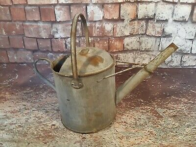 Vintage Antique Galvanised Watering Can 1.5 gallons Garden Planter Feature