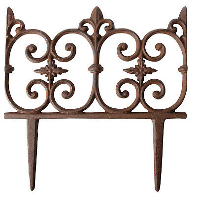 """ Garden Bed Border Cast Iron "" Kanteneinfassung Flower Fence Item"