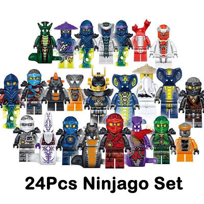 Set of 24 Pcs Ninjago Mini Figures Kai Jay Minfigures Building Blocks Toys Gift