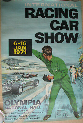 Racing Car Show . 1971 . London . 1 X Affiche . Format : 50 X 76 Cm .
