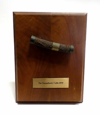 1858 Transatlantic Cable Guaranteed by Tiffany & Co. w/ Wood Display -Promoted