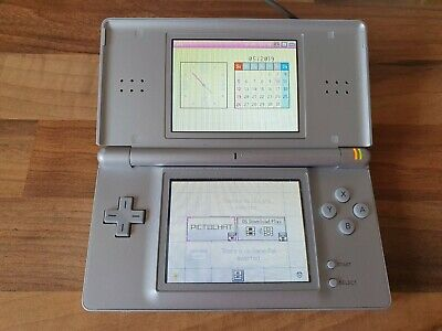 Silver Nintendo DS Lite Handheld Console