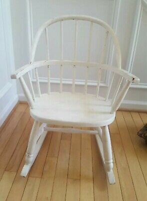 Antique Childs Windsor Rocking Chair-Good Condition