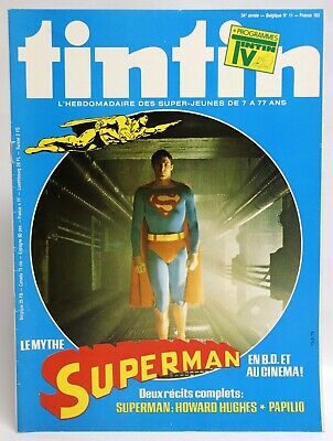 SUPERMAN 2 récits complets JOURNAL TINTIN Howard Hughes Belge 13-3-1979 TBE