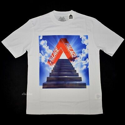 e61cc587 NWT Palace Skateboards Tri-Ternity Stairway Logo T-Shirt White M SS19  AUTHENTIC